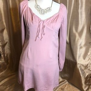 Forever 21 Pink Mauve Sweetheart Tea Dress